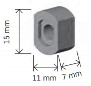 Opvulbusjes 10 mm wit