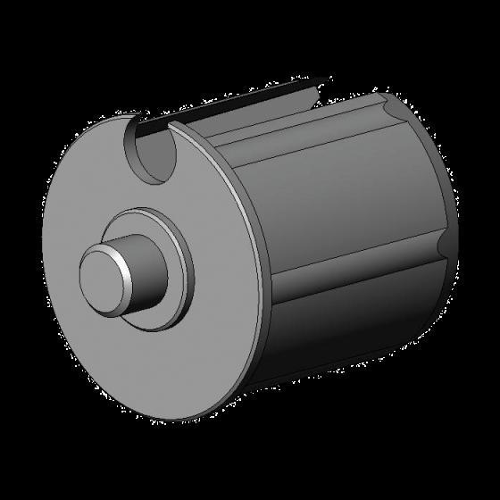 Kunststof lagerprop 48 met as 12 mm
