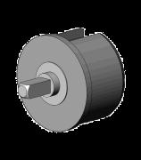 Kunststof monoprop 48, met vrijloop